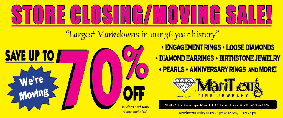 Store Closing/Moving Sale -